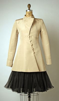 House of Chanel (French, founded 1913)  Designer: Karl Lagerfeld (French, born Germany, 1938) Date: spring/summer 2000 Culture: French Medium: a) silk; b) silk, synthetic
