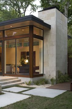 modern architecture - brian dillard architecture - dry creek house - austin - texas - exterior view