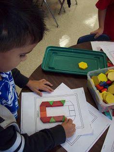 Chalk Talk: A Kindergarten Blog: pattern blocks - templates for making numerals