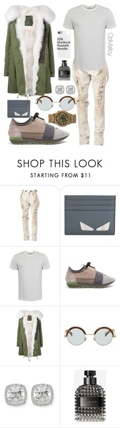 """""""A sunny winter"""" by cbmalloy ❤ liked on Polyvore featuring Faith Connexion, Fendi, George, Balenciaga, Mr & Mrs Italy, Frederic Sage, Valentino and WeWood"""