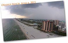 The orange beach storm. A storm blows into Orange Beach,  #beachfrontviewoforangebeachalabama #gulfshores #orangebeach