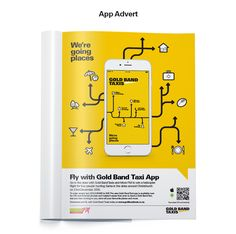 Gold Band Taxis App Advertising | By @studiopublica
