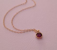 Amethyst+Necklace+in+Gold+by+TangerineCrimeScene+on+Etsy,+$24.00...Ami
