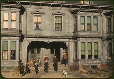 Children in tenement district.  Brockton, MA 1940.