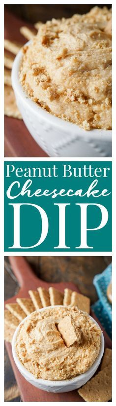 This Peanut Butter Cheesecake Dip is a simple, no-bake dessert or snack everyone will love! Plus it's ready in just 5 minutes and made with just 6 ingredients!