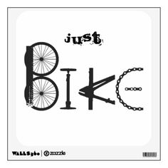 Just Bike Graffiti from Bike Parts & Tire Tracks Custom Wall Decal