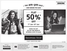Flat 50% Off Sale On Shopperstop