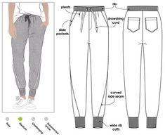 Joni Knit Track Pant Sewing Pattern By Style Arc - Stylish track pant with slight dropped crotch and curved leg seam Sewing Patterns Free, Clothing Patterns, Diy Fashion, Ideias Fashion, Sewing Pants, Diy Clothes, Sewing Clothes Women, Dressmaking, Pants For Women