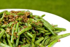 String Beans with Minced Pork « FoodMayhem