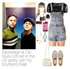 """Backstage with Niall and Olly"" by myllenna-malik ❤ liked on Polyvore featuring Topshop, Forever 21, River Island, STELLA McCARTNEY, NARS Cosmetics, Victoria's Secret, MAKE UP FOR EVER, Karen Walker, Pandora and FOSSIL"