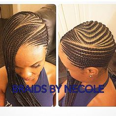 long custom cornrows design More