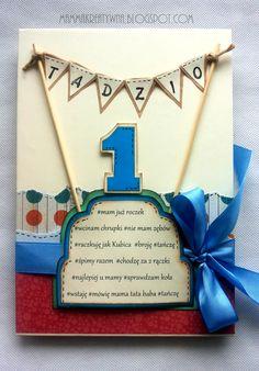 Ręcznie robiony album do zdjęć z okazji roczku. Pierwsze urodziny. Tort urodzinowy. Handmade photo album specially for first birthday. www.mammakreatywna.blogspot.com