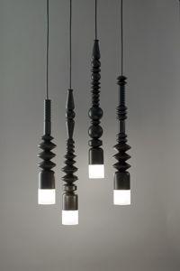 turned wood light pendant