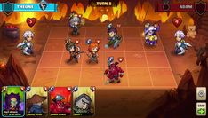 Mighty Party Heroes Clash is a Free Android Strategy TBS Mobile Multiplayer Game featuring a fast 3 minute dynamic PvP battles