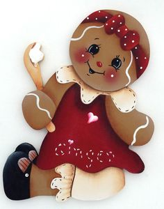 HP GINGERBREAD FRIDGE MAGNET red dress