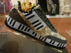 Liberace Kicks Black Diamond, circa 2008. According to the Liberace shop, this shoe design was inspired by the blue and bold costume Liberace wore during his 1985 Radio City Music Hall shows.