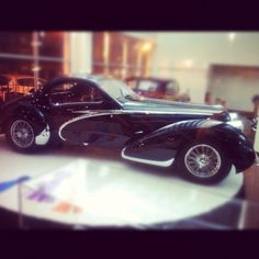 It's not a toy it's a 1938 Talbot-Lago TIS50-C owned by the Stephens family who also owns the Academy of Art University