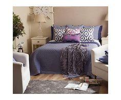 Colcha reversible de algodón Amalco para cama 90 cm - azul