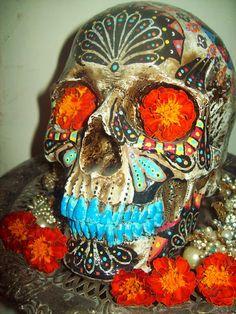 Our Dia de los Muertos Altar 2013