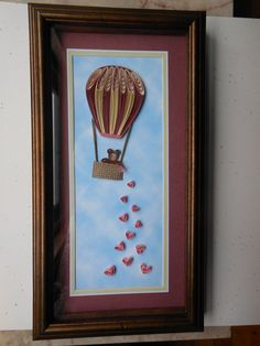 Quilling - hot air balloon