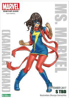 Kotobukiya Reveals Ms. Marvel (Kamala Khan) And Katana Superhero Bishoujo Figures