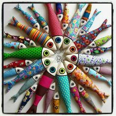 Ponto Lx, Lisbon Picture: 2 sizes of sardinhas.lx - Check out Tripadvisor members' candid photos and videos of Ponto Lx Fish Crafts, Diy And Crafts, Arts And Crafts, Fabric Toys, Fabric Scraps, Sewing Toys, Sewing Crafts, Fabric Fish, Craft Projects