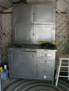 Vintage Metal Hoosier Cabinet   Second Chances Barn