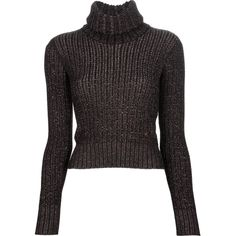 CHANEL VINTAGE polo neck jumper ($470) ❤ liked on Polyvore