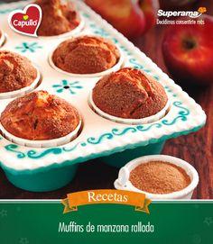 #Muffins de #manzana: En un tazón mezcla 1 tz. manzana rallada, 2 huevos, ¼ tz. yogurt natural Light Lala®, ½ tz. Aceite vegetal Capullo® y 1 cdta. esencia de vainilla. Aparte, combina 1 ¾ tzs. harina, ¾ tz. azúcar, 2 cdtas. bicarbonato, 2 cdtas. canela en polvo, 1 pizca de sal, ¼ tz. amaranto natural y ¼ tz. avena. Incorpora las dos mezclas e integra por completo. Precalienta el horno a 170 ºC, acomoda capacillos en los moldes para muffins y vacía la mezcla. Hornea por 25 min. Retira del…