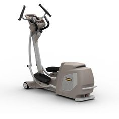 Yowza Fitness Pompano Cardio Core Elliptical Trainer Machine Patented Cardio Core motion with a 20 roller-less elliptical motion that is reversible. IPod Dock and Hi Fidelity speakers. Built in fixed ramp-less incline. Sure-Fit self-pivoting pedals. 16 Levels of resistance.  #Yowza_Fitness #Sports