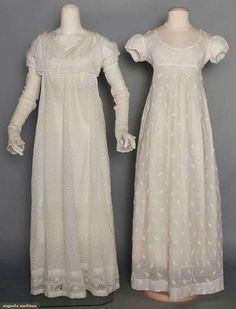 1800-1810 sprigged mull dresses.