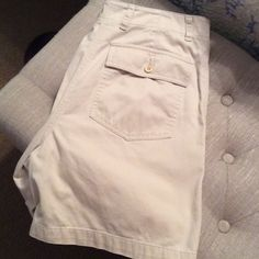 """Jones New York Sport Tan Khaki Shorts In excellent condition and very soft and comfy. 100% cotton. Pockets in the front and back.  I measured the shorts from top to bottom and its 16 1/2"""" in length. Jones New York Shorts"""