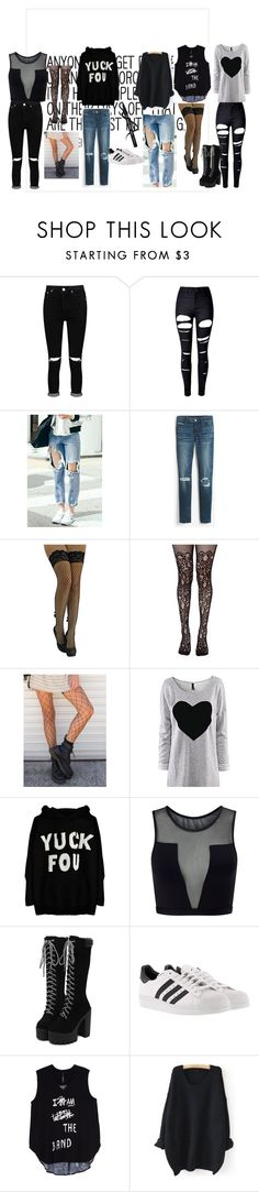 """Simple Rock style"" by alessandraanna on Polyvore featuring moda, Boohoo, WithChic, White House Black Market, Leg Avenue, Varley, adidas, Melissa McCarthy Seven7 e plus size clothing"