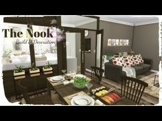Sims 4 - The Nook (Build & Decoration for download + CC links) - YouTube