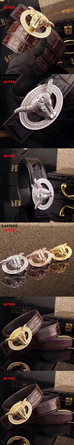 Mens Bull Head Belt Luxury Designer Genuine Crocodile Leather Belt Men Ceinture Homme Masculino Cinturones Hombre Top Quality