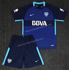 2017-18 Boca Juniors 2nd Away Dark Blue Soccer Uniform