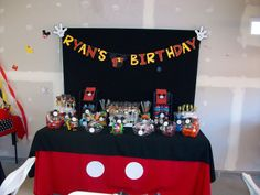 Mickey mouse candy buffets