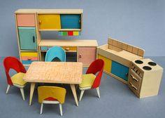 Dolls House Furniture of Ullrich and Hoffmann (Wichtelmarke), 1951-1970 by diepuppenstubensammlerin - Dolls' Houses Past & Present