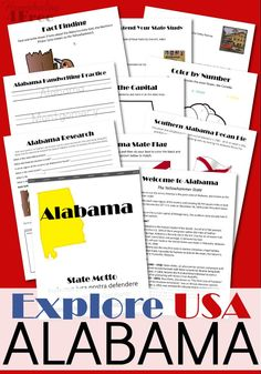 Alabama state study alabama activities and social studies explore the great state of alabama with this fun printable geography pack for elementary students fandeluxe Image collections