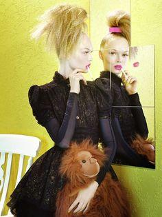 Beauty | Siri Tollerød by Miles Aldridge for Vogue Italia August 2008