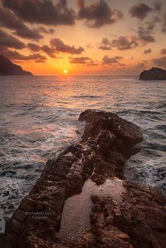 A sunset taken on the Tenerife north coast