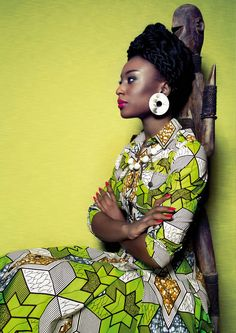#African #Print ~African fashion, Ankara, kitenge, African women dresses, African prints, Braids, Nigerian wedding, Ghanaian fashion, African wedding ~DKK