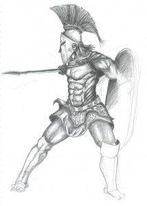 spartan warrior by on DeviantArt Viking Warrior Tattoos, Viking Warrior Woman, Greek Warrior, Spartan Warrior, Warrior Women, Spartan Race, Guerrero Tattoo, Tattoo Grafik, Art Sketches