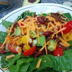 Taco Salad with Lime Vinegar Dressing - Allrecipes.com
