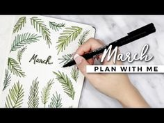 PLAN WITH ME | March 2017 Bullet Journal Setup - YouTube