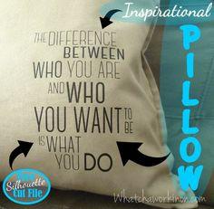 Free Silhouette Cut File to make an inspirational pillow, t-shirt, travel mug…