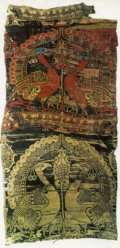 Islamic Spanish woven textile design, produced in 12th century