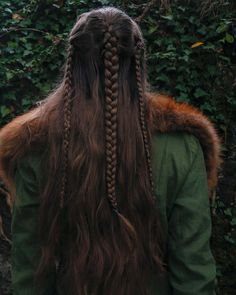 Viking Hair if only my hair was longer Medieval Hairstyles, Half Updo Hairstyles, Pretty Hairstyles, Hairstyle Ideas, Viking Braids, Viking Hair, Hair Maintenance Tips, Fairy Hair, Hair Reference