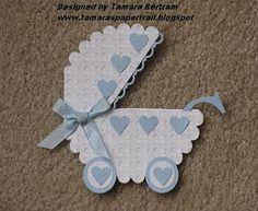 baby carriage tamara bertran/ Scalloped edge circle punch