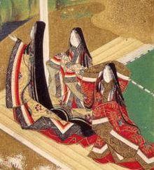 Jūnihitoe - Wikipedia, the free encyclopedia  Ilustration of the en:Genji Monogatari, ch.5–Wakamurasaki Traditionally credited to en:Tosa Mitsuoki (en:1617–en:1691). Part of the Burke Albums, property of Mary Griggs Burke